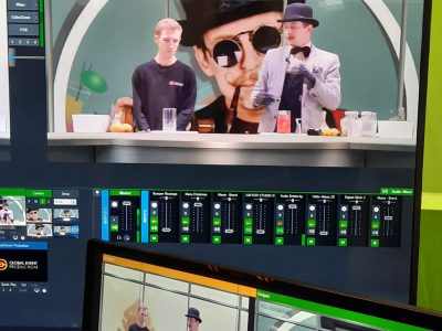 Studio Virtuel 3D Vmix ADC blender TV Aliaxis green key mur vert analoy way virtual brussels captation vidéo mixologist jeremy houssa séance plénière christmas